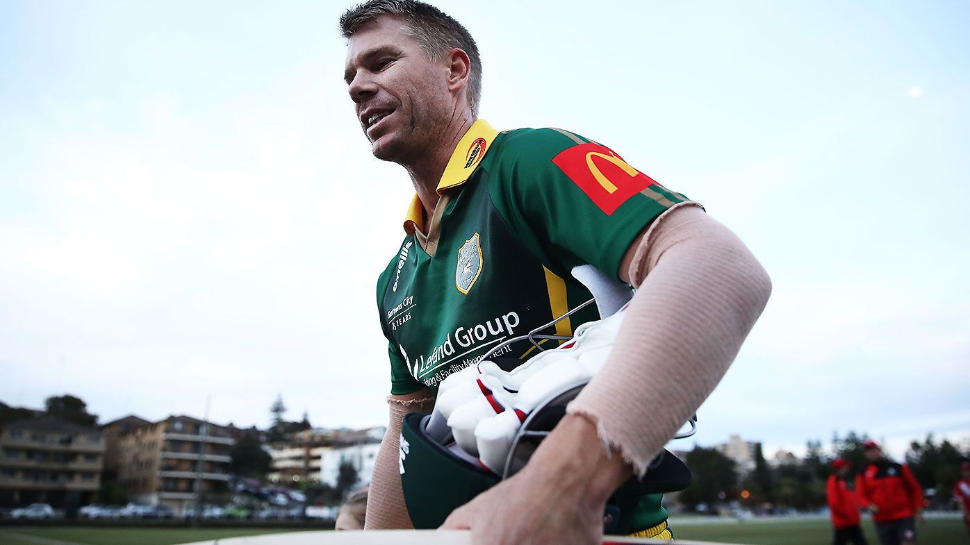 Banned Australian David Warner walks off field after sledging 'turned personal'