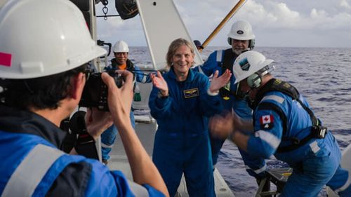 NASA Kathy Sullivan astronaut Mariana Trench deep dive exploration 200610