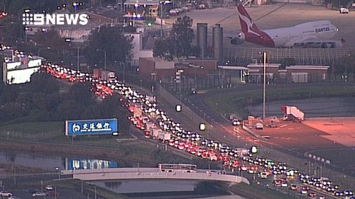 Traffic remains heavy across the city as a result of the outage. (9NEWS)