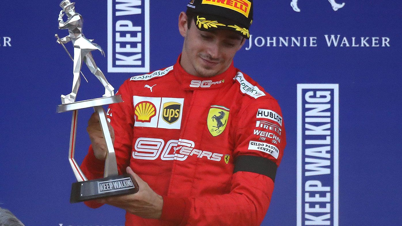 Charles Leclerc claimed the first win of his F1 career in Belgium.