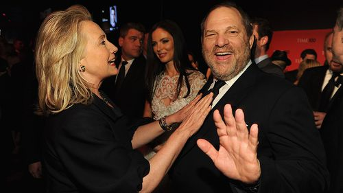 Last year Weinstein hosted a fundraiser for then-presidential-candidate Hillary Clinton. (Getty)