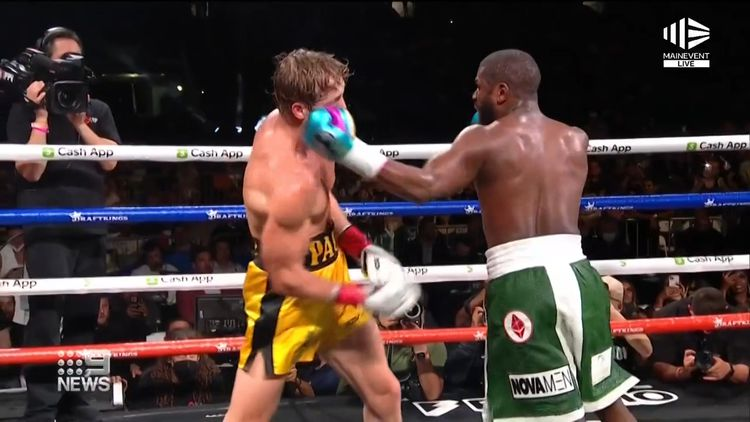Floyd Mayweather Vs Logan Paul Boxing Fight Live Updates Main Event Start Time Weigh Ins Round By Round Results