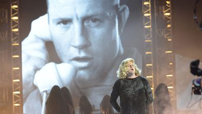 "Billy Brownless as Adele performs ""Hello"". (Supplied)"