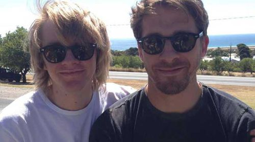 Zachary Sheridan and brother Hugh, who has traveled to Nepal to help the search. (Supplied)