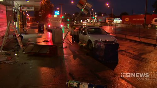 Local business owners were left to clean up the damage. (9NEWS)