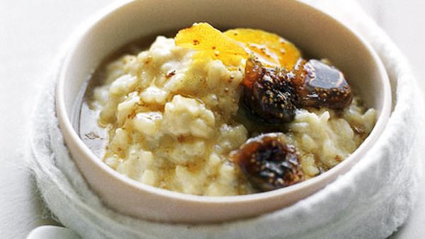 Fig and brandy rice pudding