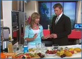 Teresa Cutter cooking with Richard Wilkins