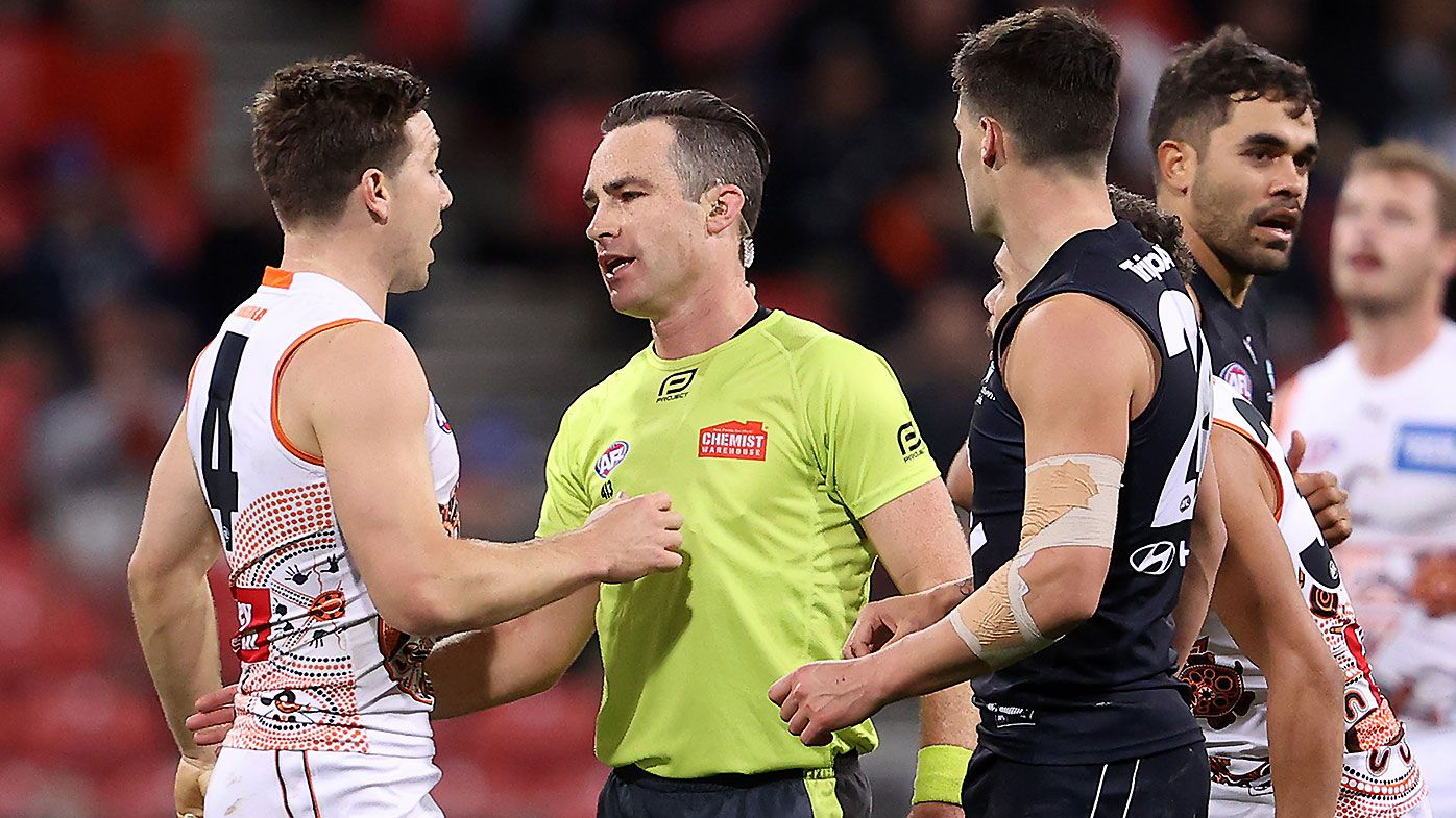 Toby Greene reported for striking as GWS Giants extend Carlton's miserable season