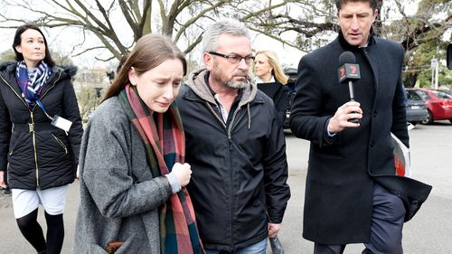 Borce Ristevksi with his and Karen's daughter, Sarah. (9NEWS)