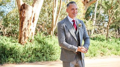 MAFS Steve on his wedding day, ahead of marrying bride Mishel.