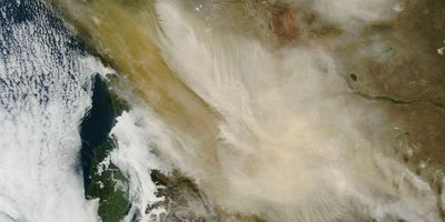 A satellite image showing the proliferation of the ash cloud after the eruption. (AAP)