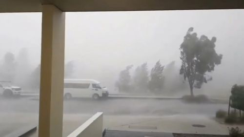 The nation's capital copped a drenching yesterday afternoon. (9NEWS)