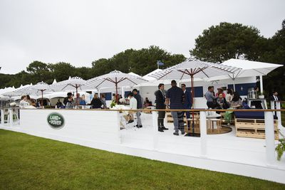 The Land Rover marquee at Polo in the City.