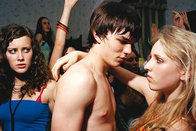 <B>Airdate:</B> 2007 to present.<br/><br/><B>What it's about:</B> Not all teen dramas depict adolescents as rich, articulate and flawlessly skinned. British drama <I>Skins</I> focuses on angsty adolescents who swear, skip school, drinks, do drugs, and — of course — have sex.<br/><br/><B>The sex factor:</B> Teens having sex, thinking about having sex, or arranging for their friends to have sex. The US adaptation was so graphic it struggled to find advertisers when it premiered.