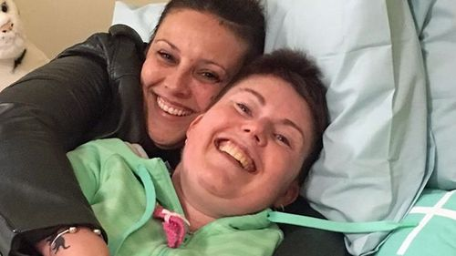 Sarah, pictured with her best friend Sheridan.