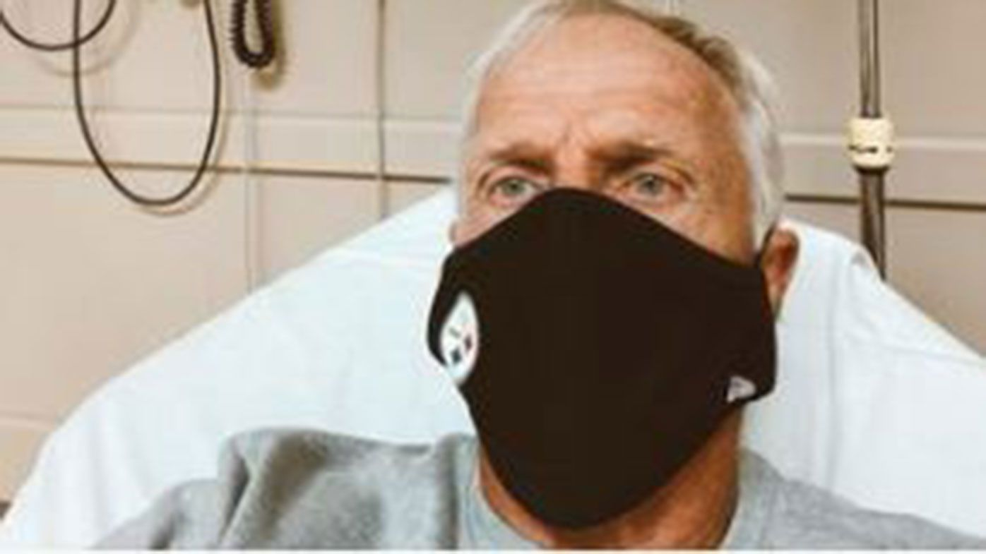 Australian golf great Greg Norman has been hospitalised after testing positive to COVID-19.
