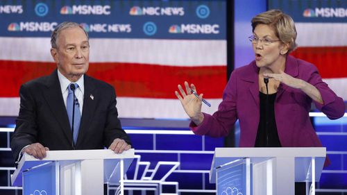 Elizabeth Warren slammed Michael Bloomberg on his sexual harassment lawsuits.