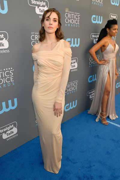 Actress Alison Brie at the 2018 Critics Choice Awards