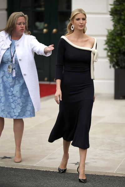 Ivanka Trump at a state arrival ceremony hosted by President Donald Trump welcoming French President Emmanuel Macron to the White House in April, 2018