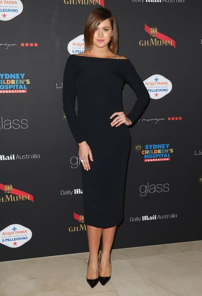 Jesinta Franklin at the 86th Academy Awards Charity dinner in Sydney, March, 2014