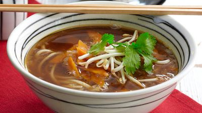 """Recipe:<a href=""""http://kitchen.nine.com.au/2016/05/05/16/11/udon-noodle-soup"""" target=""""_top"""" draggable=""""false"""">Udon noodle soup<br> </a>"""