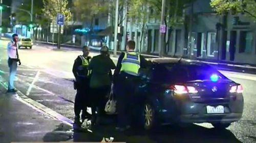 The dog squad assisted with the arrest of the man and woman, both aged 25. (9NEWS)