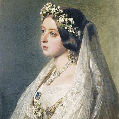 Franz Xaver Winterhalter's wedding portrait of Queen Victoria