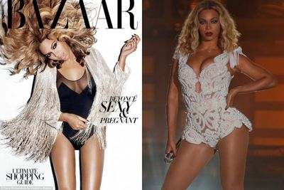 Queen Bey lost her bootylicious thighs on the cover of <i>Harpers Bazaar</i> in 2011.