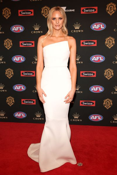 Julie Clark, partner of Fremantle's Lachie Neale at the 2018 Brownlow Medal, September, 2018