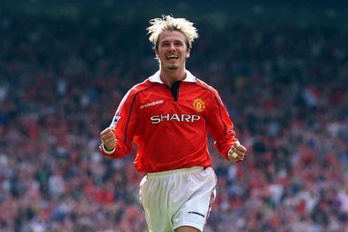 Beckham became a household name for his exploits with Manchester United. (AAP)