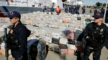 Drug smugglers held on US floating prisons