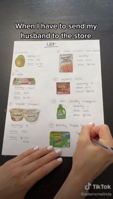 TikTok grocery list including map