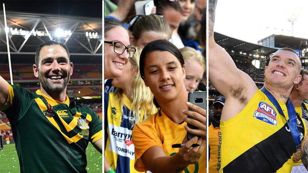Cameron Smith, Sam Kerr and Dustin Martin.