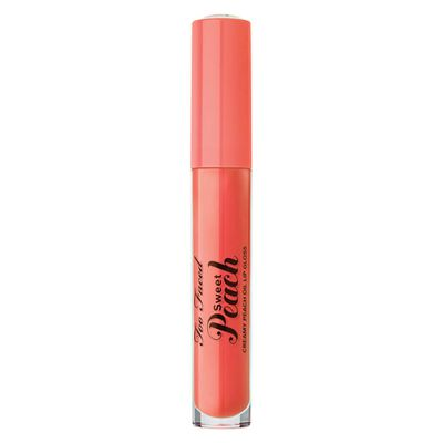 "<a href=""https://www.mecca.com.au/too-faced/sweet-peach-creamy-peach-oil-lip-gloss/V-025954.html"" target=""_blank"">Too Faced Sweet Peach Creamy Peach Oil Lip Gloss in Peach Tease, $27</a>"