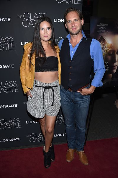 Jessica Ciencin Henriquez and Josh Lucas at the premier of <em>The Glass Castle</em>