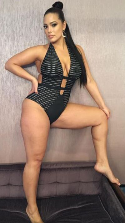 Another pose for Swimsuits For All x Ashley Graham.