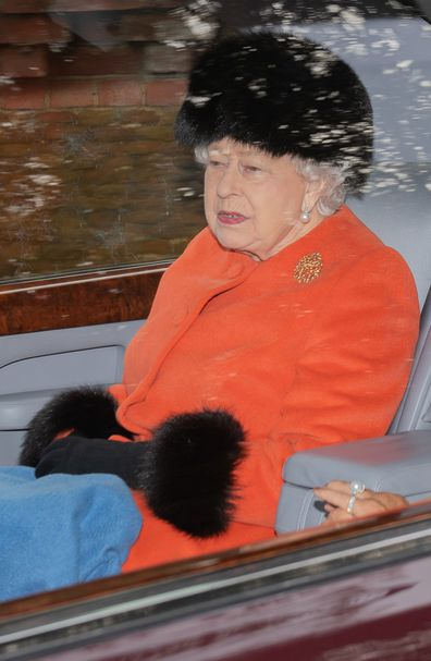 Queen Elizabeth attends church January 26 after recovering from a cold