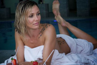 Her sexy role in Ridley Scott's <i>The Counselor</i> and a small bit in <i>What to Expect When You're Expecting</i>, landed Cam the honour of being named the highest paid female star over 40.<br/><br/>(Image: <i>The Counselor</i>. Source: 20th Century Fox)