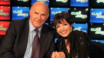 Acclaimed Australian broadcaster Clive James with Liza Minnelli.