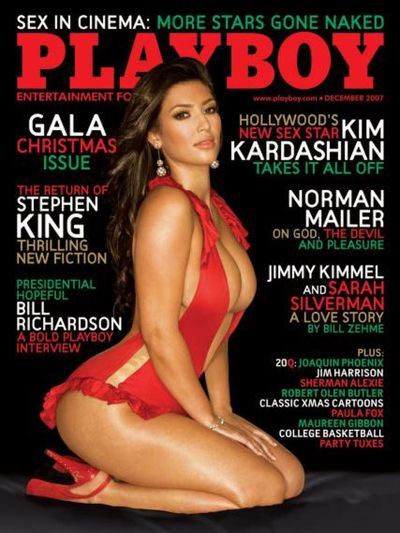 <p><strong><em>Pint-sized pin up</em></strong></p> <p>Kim Kardashian, Playboy Magazine December 2007</p>