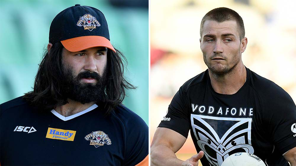 Aaron Woods and Kieran Foran