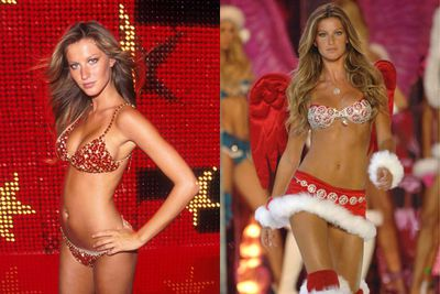 <i>Of course</i> Gisele has had the honour wearing the fantasy treasure bra not once, but twice… she's the ultimate Victoria's Secret girl.  <br/><br/>First, in 2000 when her red satin set (made up of 1300 stones, including 300 carats of Thai rubies) clocked in at $15million - still holding the Guiness World record for being the most expensive lingerie in the world - and again in 2005 with her sexy santa look (a measly $12.5 mill). <br/>