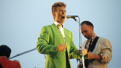 During Tin Machine in Concert at the Pier, New York, 1991. (WireImage)