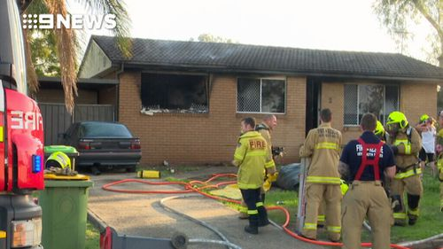 The fire broke out at a St Clair home overnight. (9NEWS)
