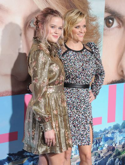 <p>Reese Witherspoon and her doppelgänger daughter, Ava, in glittery shifts.</p>
