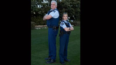 Another pair of mismatched cops from New Zealand. (Facebook: Kelly Hindle)