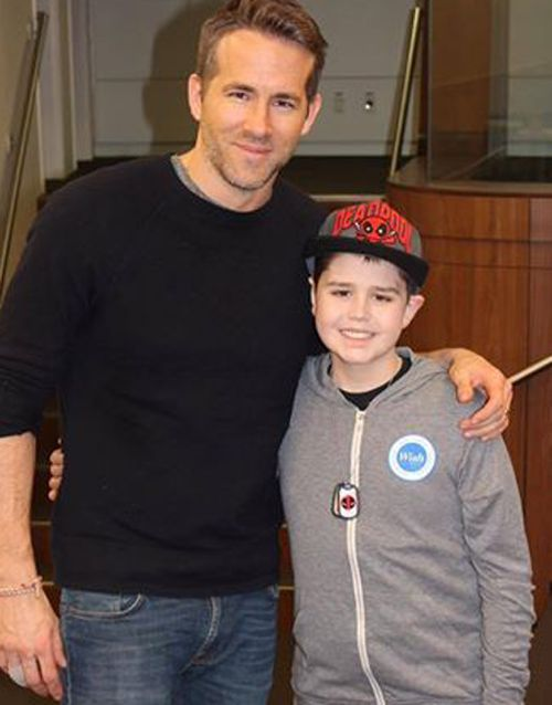 Ryan Reynolds reveals young boy with cancer was the first person to see Deadpool