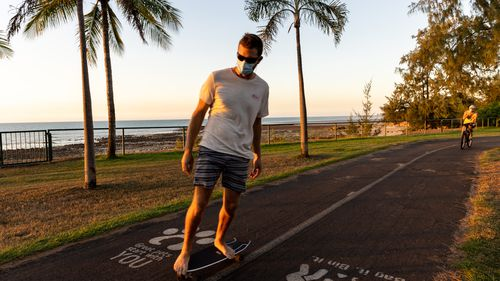 Darwin residents enjoy their hour of exercise