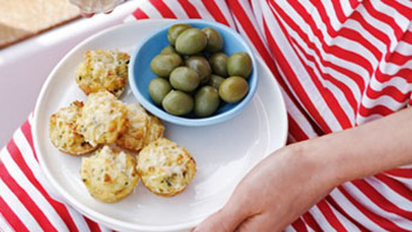 Manchego and olive mini-muffins