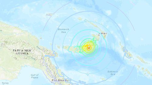 A magnitude-7 earthquake has hit Papua New Guinea.